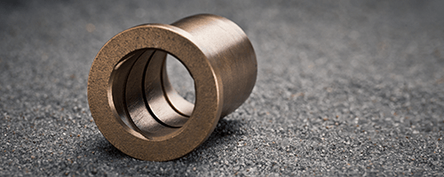 sintered bronze plain bearing with graphite