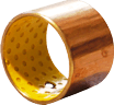 steel - sintered bronze - POM composite bearing