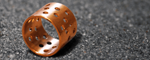 SLWB 1H - wrapped bronze with lubrication holes - low-maintenance